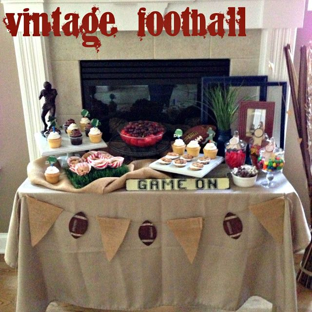 In Flight: Vintage Football Dessert Table  Guys Birthdays Boys Birthdays Vintage Football Birthday Party