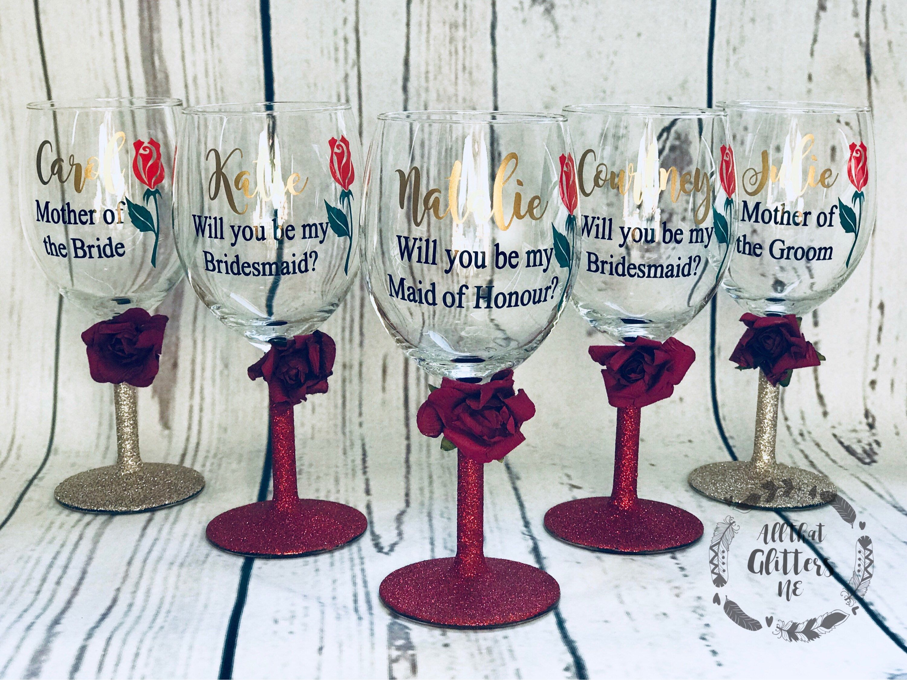 personalised wine glass for mum with glitter stem Funny mum wine glass Option to add personalised box.