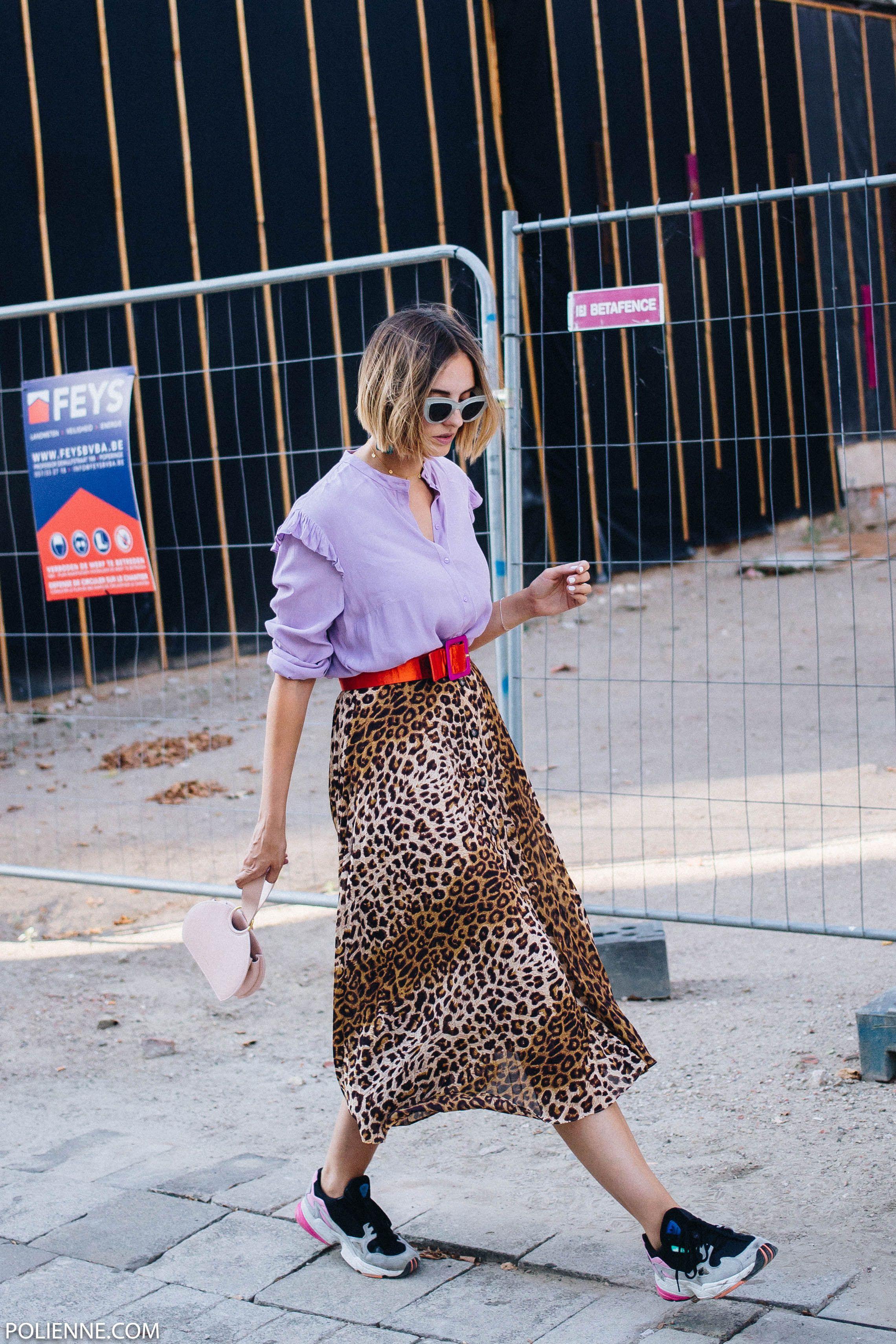 ff7298ead29 Feeling eclectic / leopard skirt / Adidas Falcon - POLIENNE by Paulien  Riemis