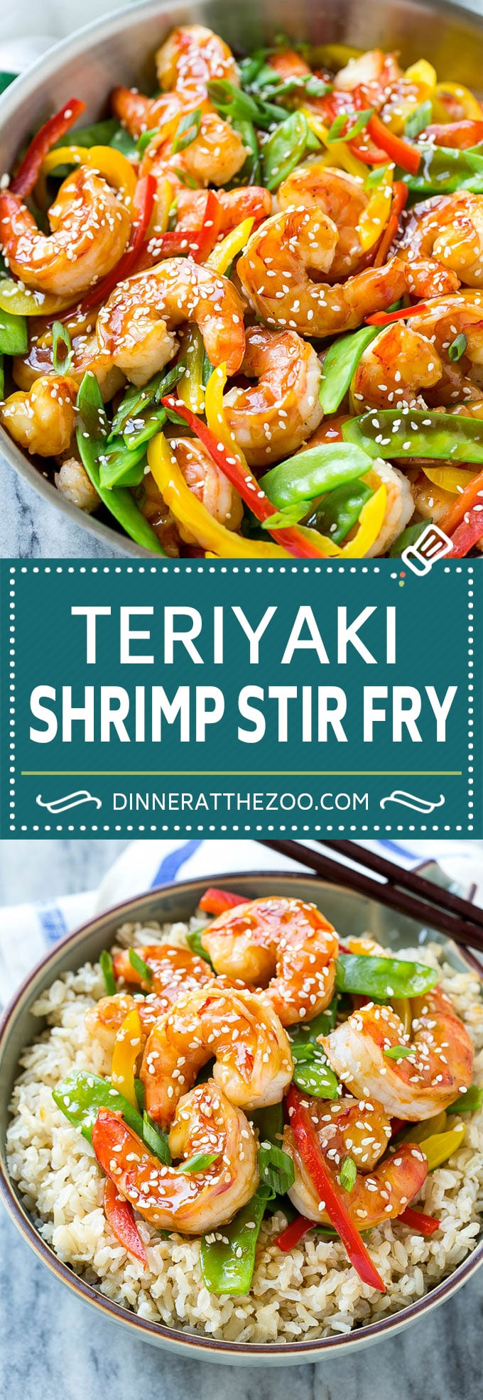 Teriyaki Shrimp Stir Fry - Dinner at the Zoo