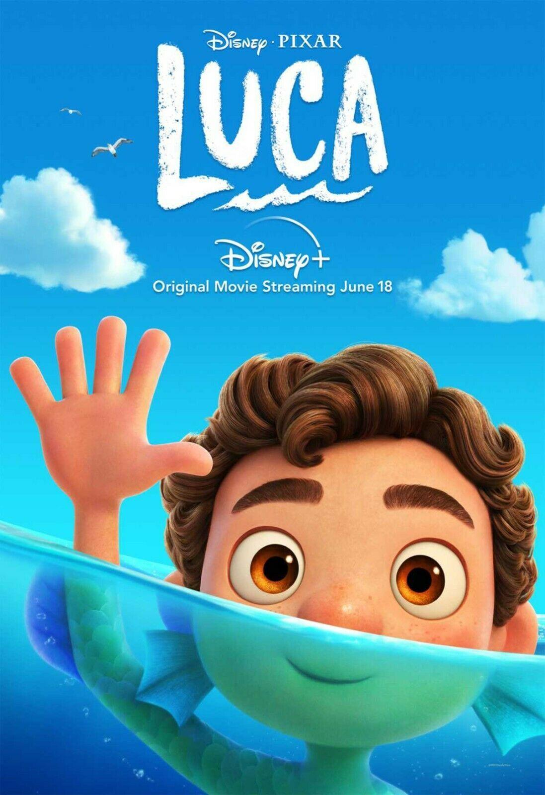 Luca (2021) película de animación de Seda cartel de alta calidad de pared decoración de hogar (e) 24x36in