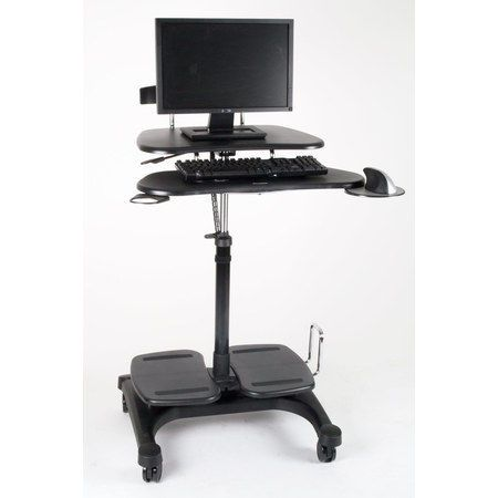 Premium Height Adjustable Sit Stand Mobile Pc Laptop Standing