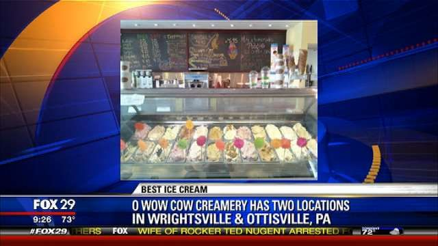 """Recently named @Huffington Post's """"Top 10 Ice Cream Shops in America,"""" OwowCow Creamery appeared on Fox 29's Good Day Philadelphia to let anchors Mike Jerrick and Sheinelle Jones sample some of their unique flavors."""