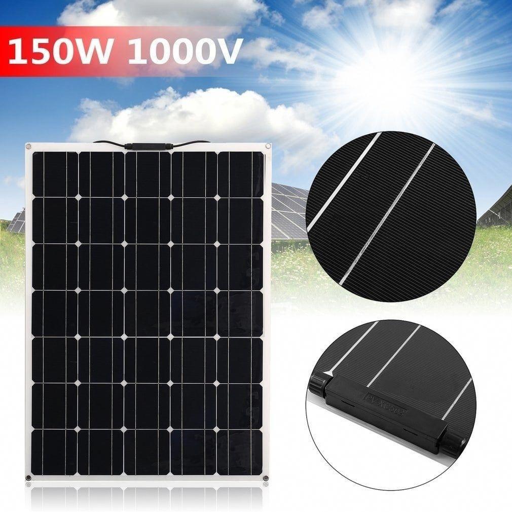Petite 150w Monocrystalline Flexible Solar Panel Module Outdoor Solar Power System Black Solarpanels In 2020 Solar Energy Panels Solar Panels Flexible Solar Panels