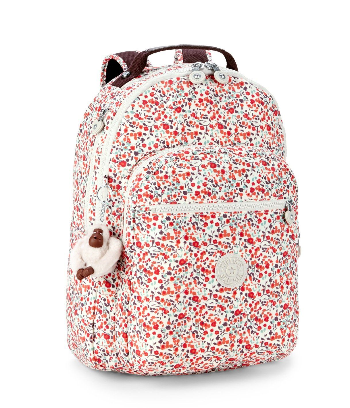 4f4a94708 Amazon.com: Kipling Seoul Large Backpack With Laptop Protection, Pop Floral  BTS: Clothing