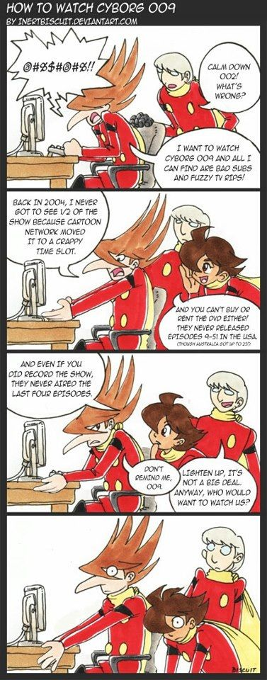 Cyborg 009! LOL this is how I feel everytime I remember 009