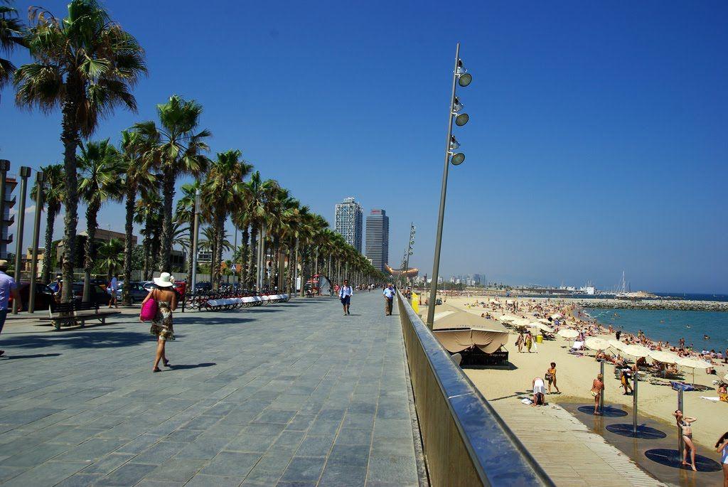Passeig Maritim de la Barceloneta | Spain travel, Barcelona, Waterfront