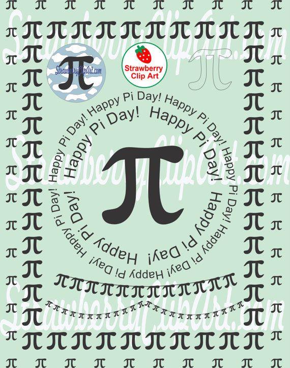 Pi Day Clip Art Frames Banner Pi In The Sky Digital File Instant Download Png Matematik