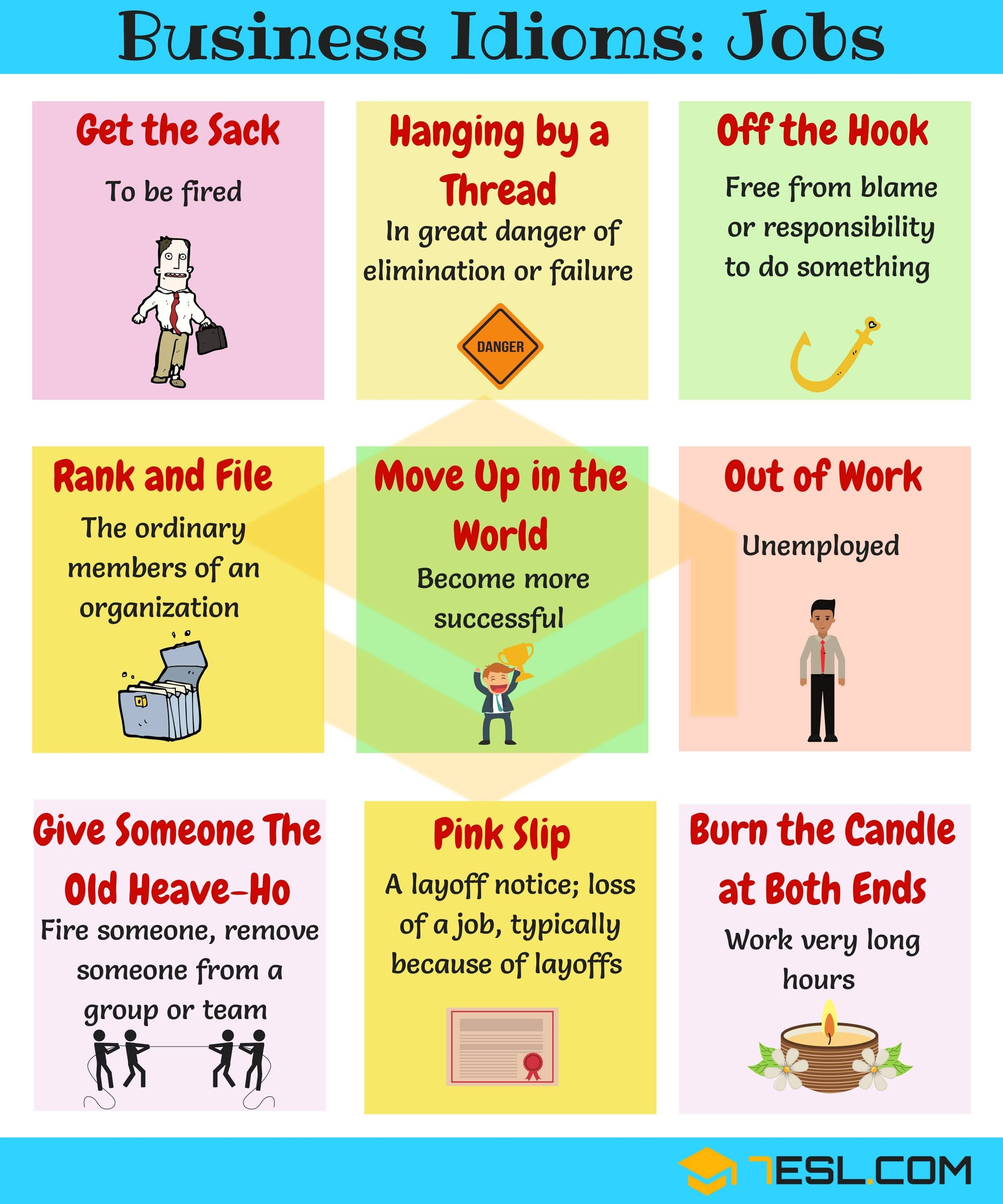 Job Idioms 10 Useful Idioms Amp Sayings About Jobs
