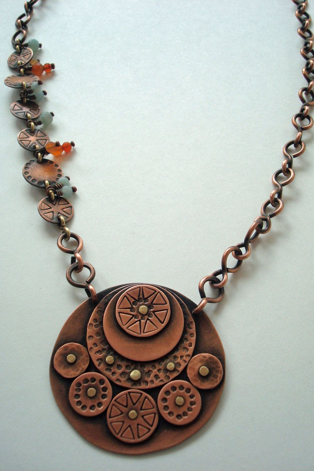 Circle of Life - Riveted Copper Necklace
