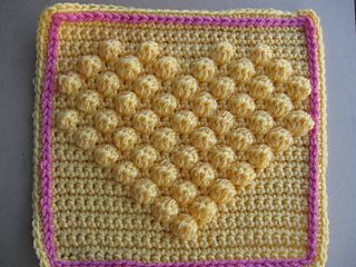 Bobble Heart Crochet Blanket Pattern