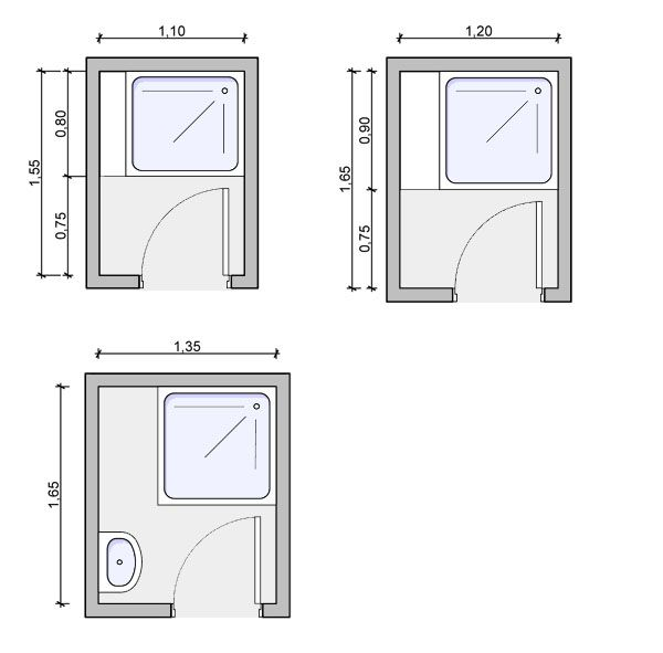 Shower floorplan, shower room drawing,