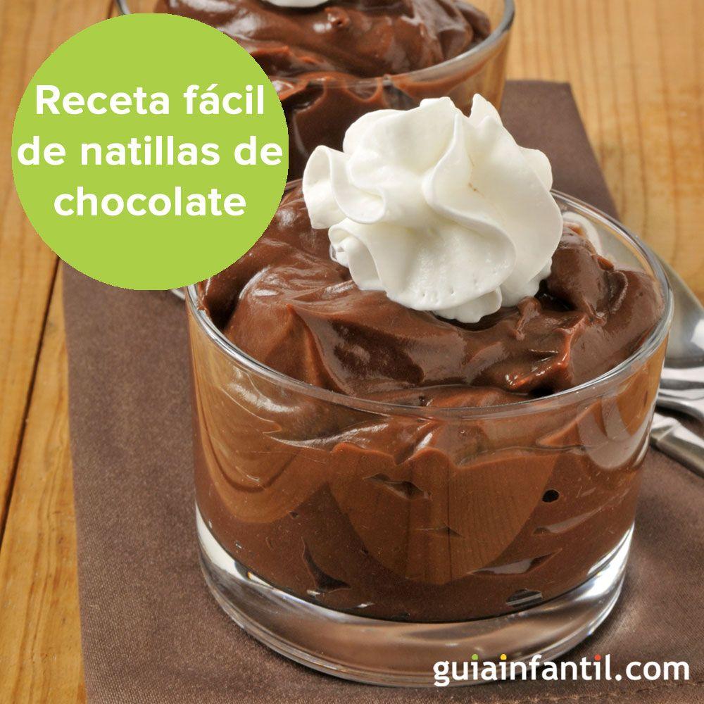 Receta rápida y sencilla de natillas de chocolate. http://www.guiainfantil.com/recetas/postres-y-dulces-para-ninos/chocolate/natillas-de-chocolate-faciles-y-rapidas/