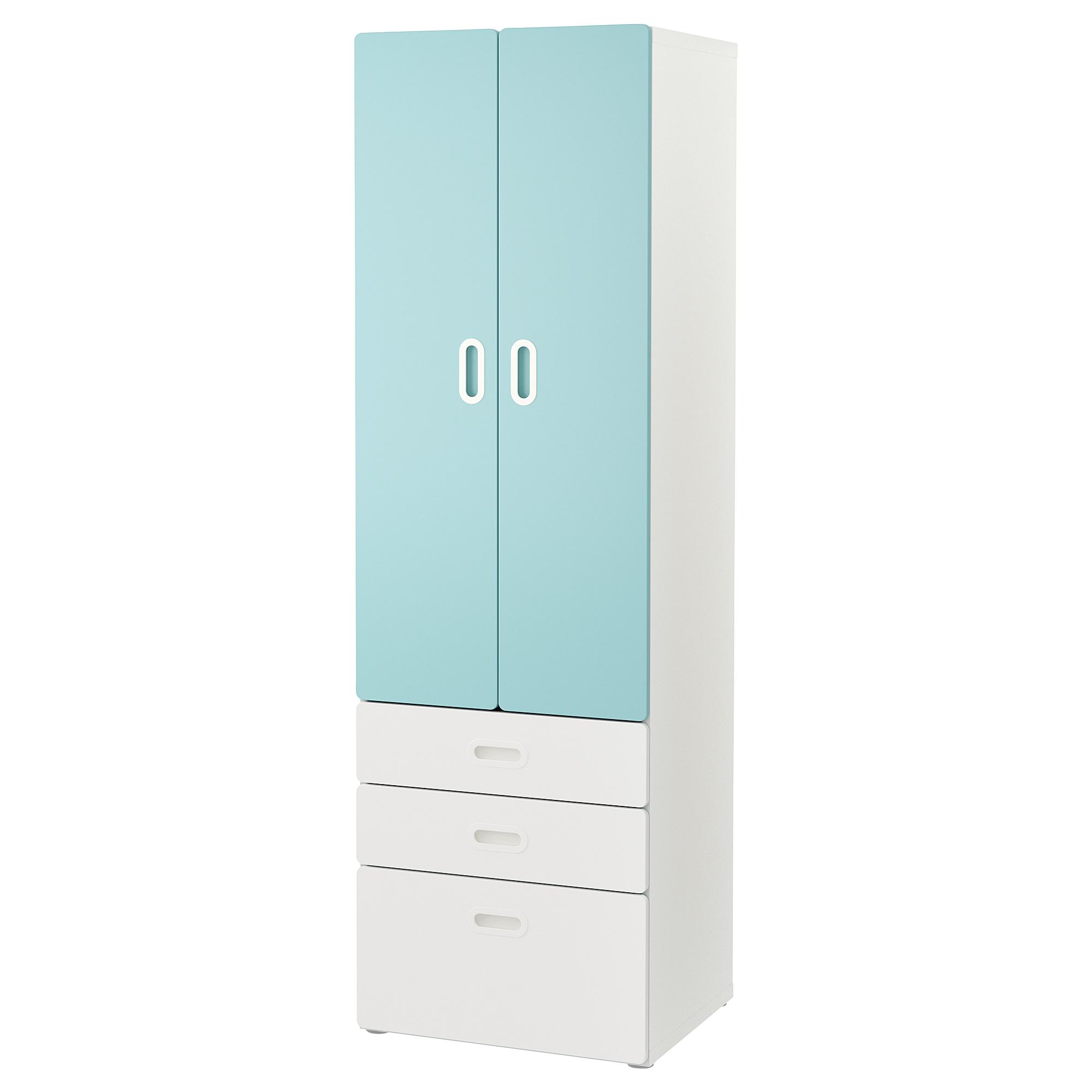 STUVA / FRITIDS Wardrobe white, light blue 23 5/8x19 5