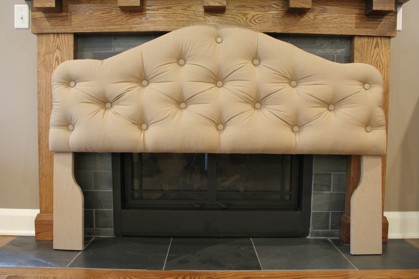 How to upholster a diamondtufted headboard in a different color