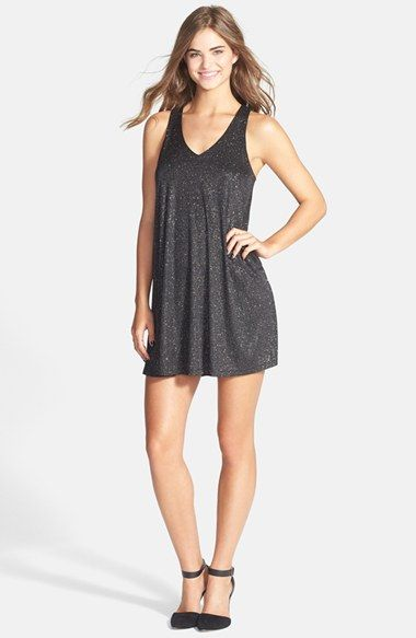 a807ea80dc Free shipping and returns on EVERLY Glitter Swing Dress at Nordstrom ...