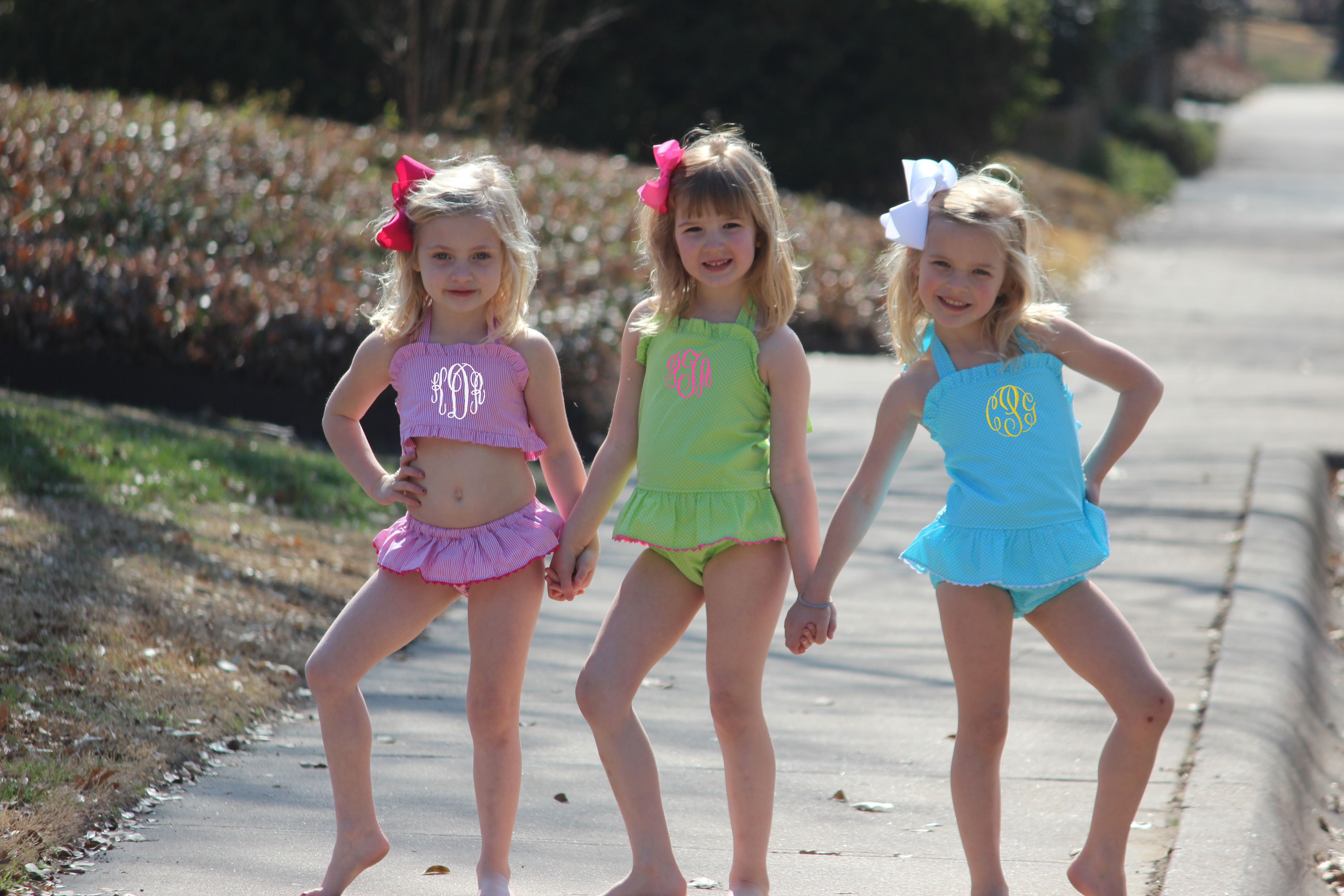 3695a04c33cc17 Monogram Swimsuits in tons of fun colors on Smocked Auctions. | Kids ...