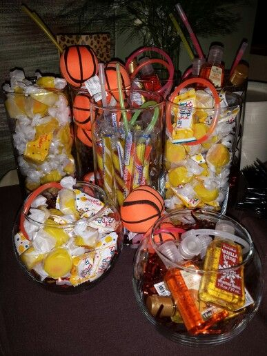 Orange And Yellow Gift Bar Theme Hand Sanitizer Basketball