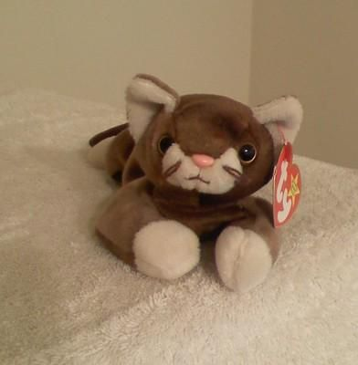 Ty Beanie BABY **POUNCE** The Cat--Retired & MWMT