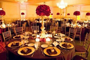 Red Chocolate And Gold Needs Chair Covers With Or Sash