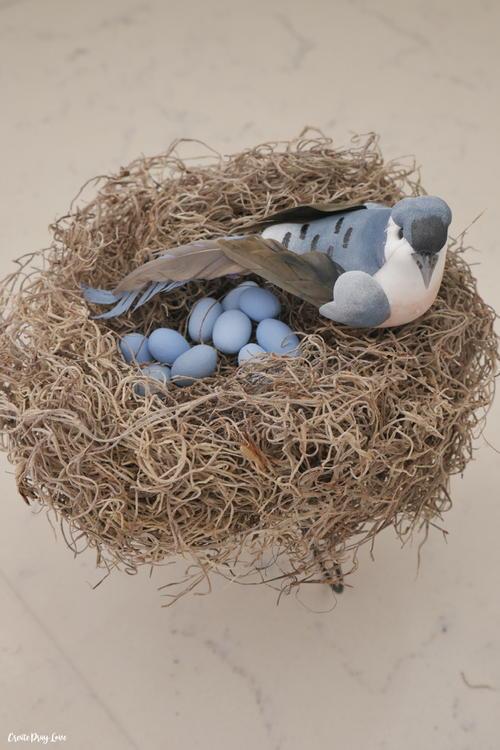 Dollar Store Bird's Nest