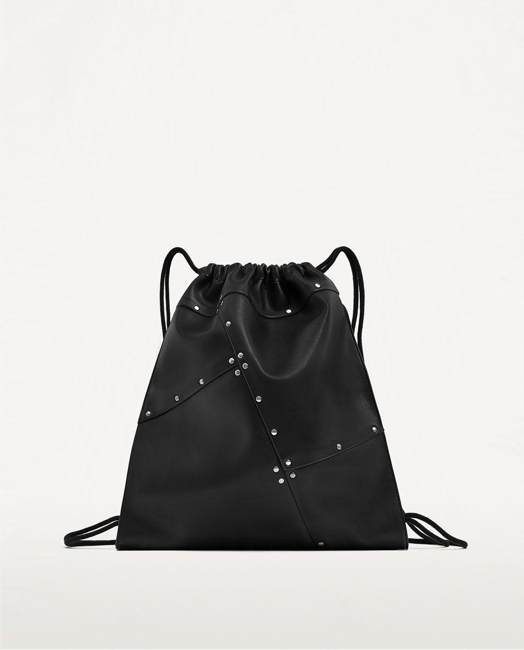 89732047b Black Studded Backpack Zara- Fenix Toulouse Handball