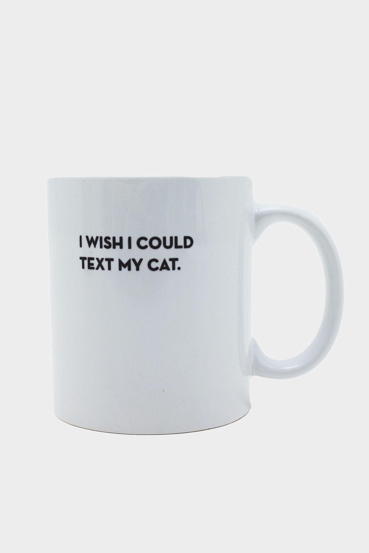 Cat Text Mug