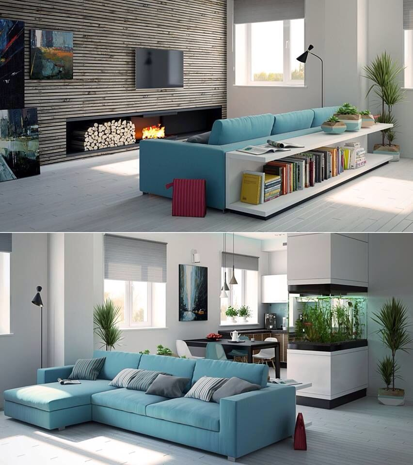 26 Relaxing Green Living Room Ideas: Living Room Turquoise, Turquoise