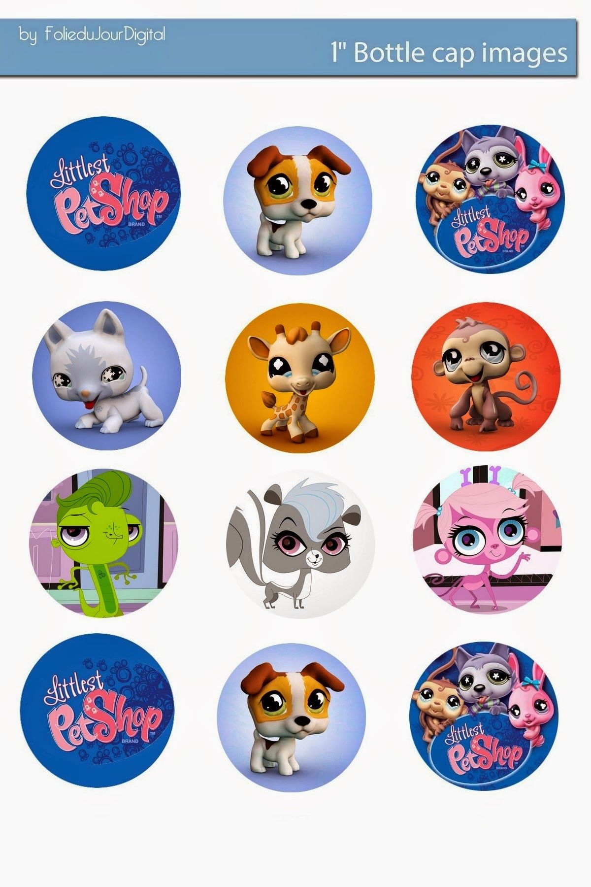I M Sharing Free Digital Bottle Cap Images I Created Littlest Pet Shop Little Pet Shop Pet Shop