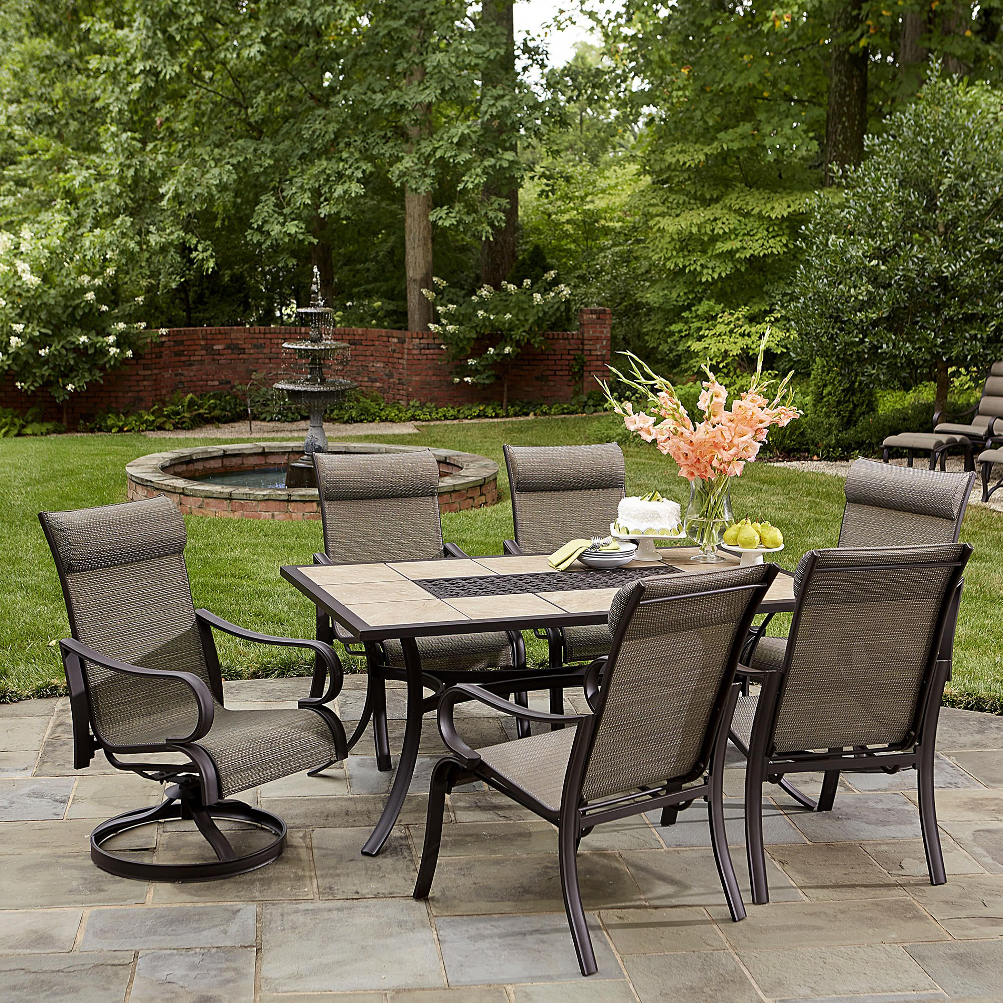 Kmart Com Patio Patio Set With Umbrella Backyard Design