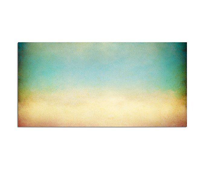 120x80cm - Fotodruck auf Leinwand und Rahmen Farben Schleier