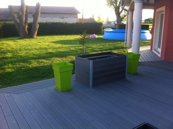 lame terrasse en bois composite mdsa france gris anthracite gris anthracite lame de. Black Bedroom Furniture Sets. Home Design Ideas