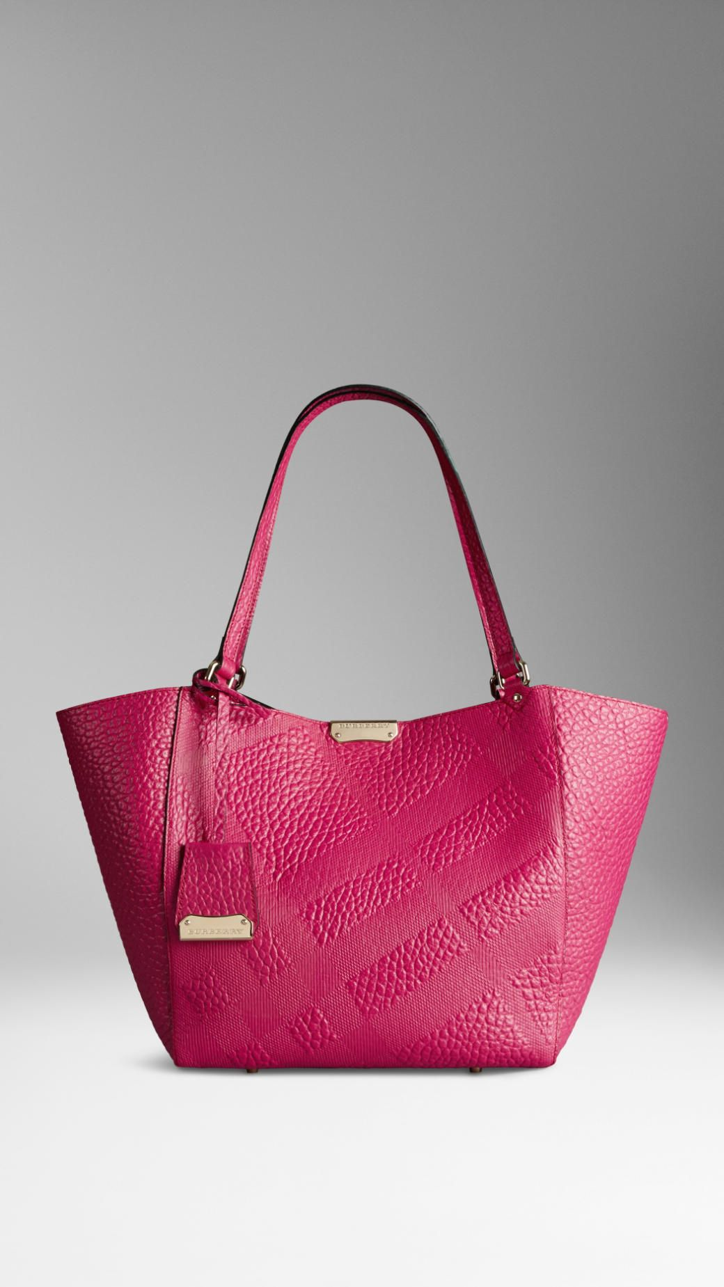 The Small Canter in Embossed Check Leather | Burberry