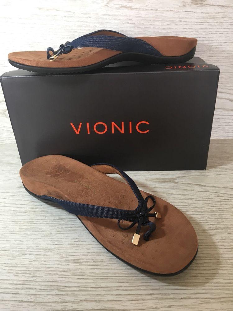 56ffa27565e9 Vionic Bella II Denim Blue Sandal 11 M Orthopedic Flip-Flop Shoe New  99.95