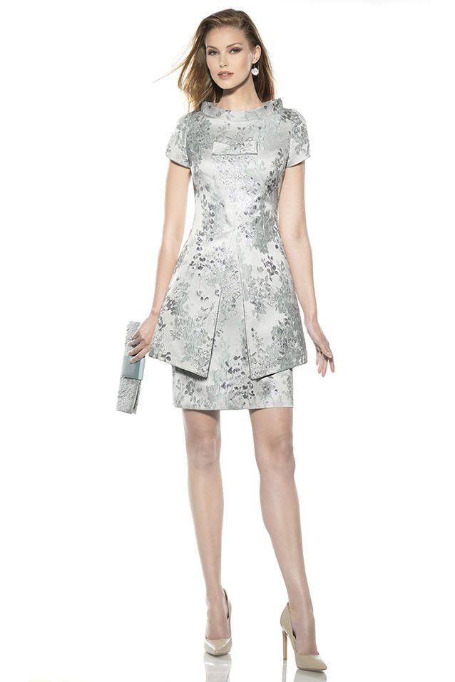 Vestidos de coctel cortos color gris