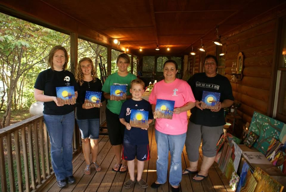 Harvest Moon at Painting with Ashley Ray