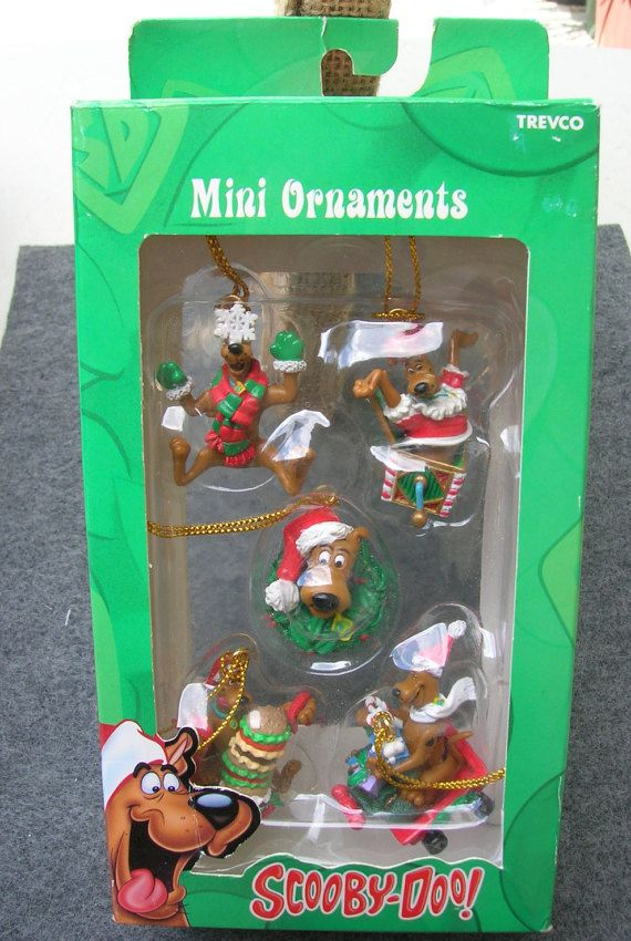 5 Miniature Ornaments Scooby Doo  by by SerendipitysEmporium
