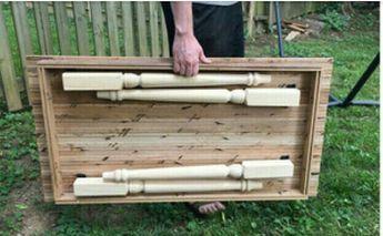 Holz Klapptisch Von Modernelementshome Auf Etsy Holzbearbeitungs