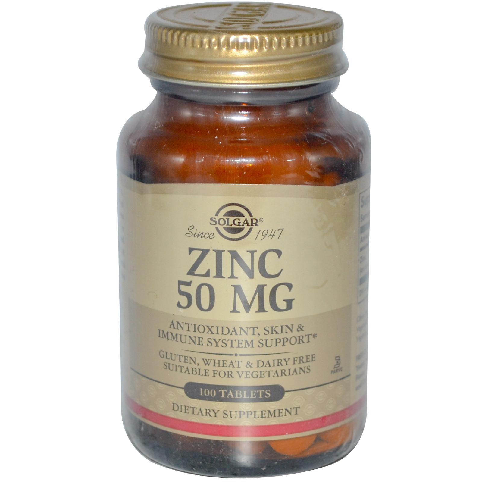 Solgar, Zinc, 50 mg, 100 Tablets Metabolism support
