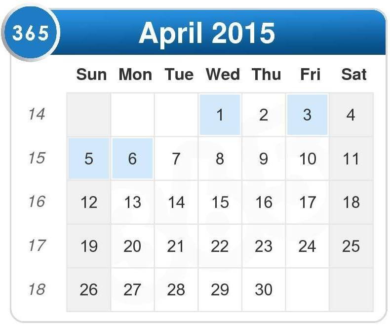 Check Out April 2015 Calendar Philippines Printable Pdf Excel