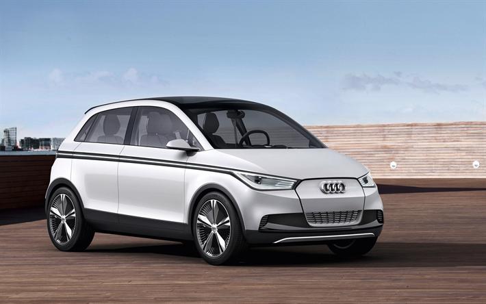 Herunterladen Hintergrundbild Audi A2 Concept 2019 Autos Kleine