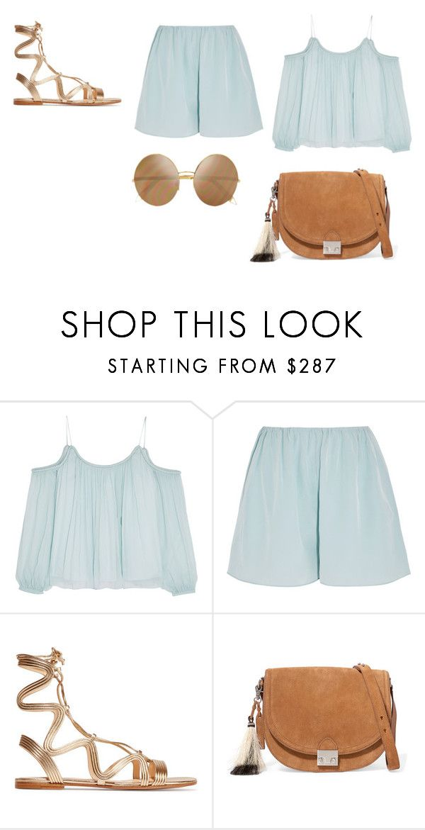 """Sin título #4359"" by ceciliaamuedo ❤ liked on Polyvore featuring Elizabeth and James, Gianvito Rossi, Loeffler Randall and Victoria Beckham"