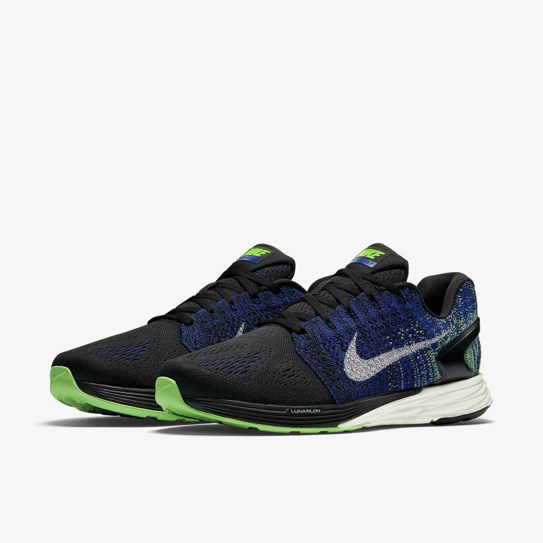 new products bf80c 65d59 Nike LunarGlide 7 (Black Racer Blue Voltage Green Sail)   Nike.com