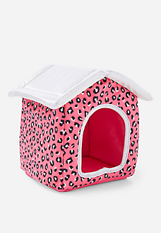 Pet Shop Cheetah Print Plush Pet House Pet Shop