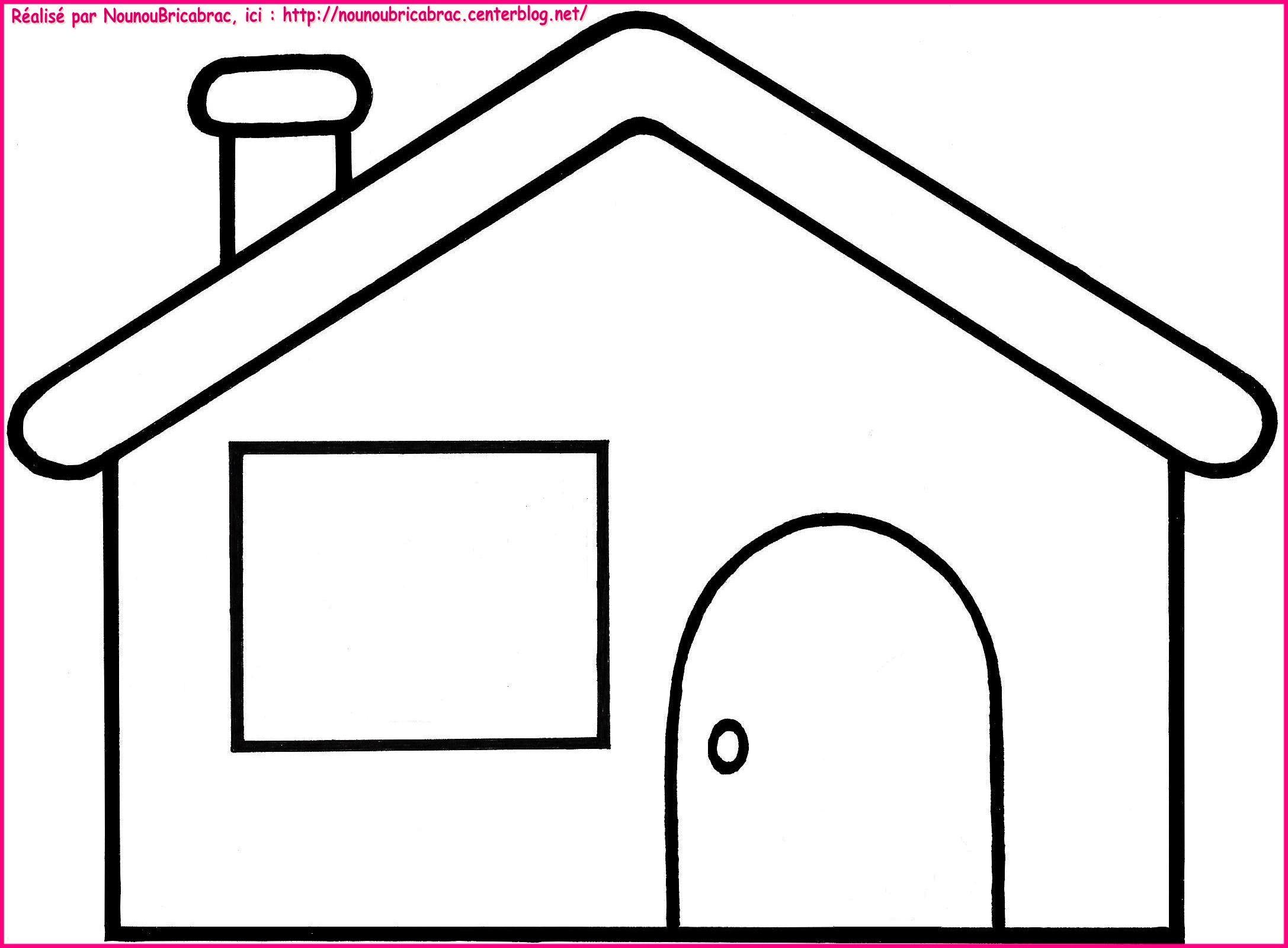 Coloriage Maison à Colorier Dessin à Imprimer Coloriage