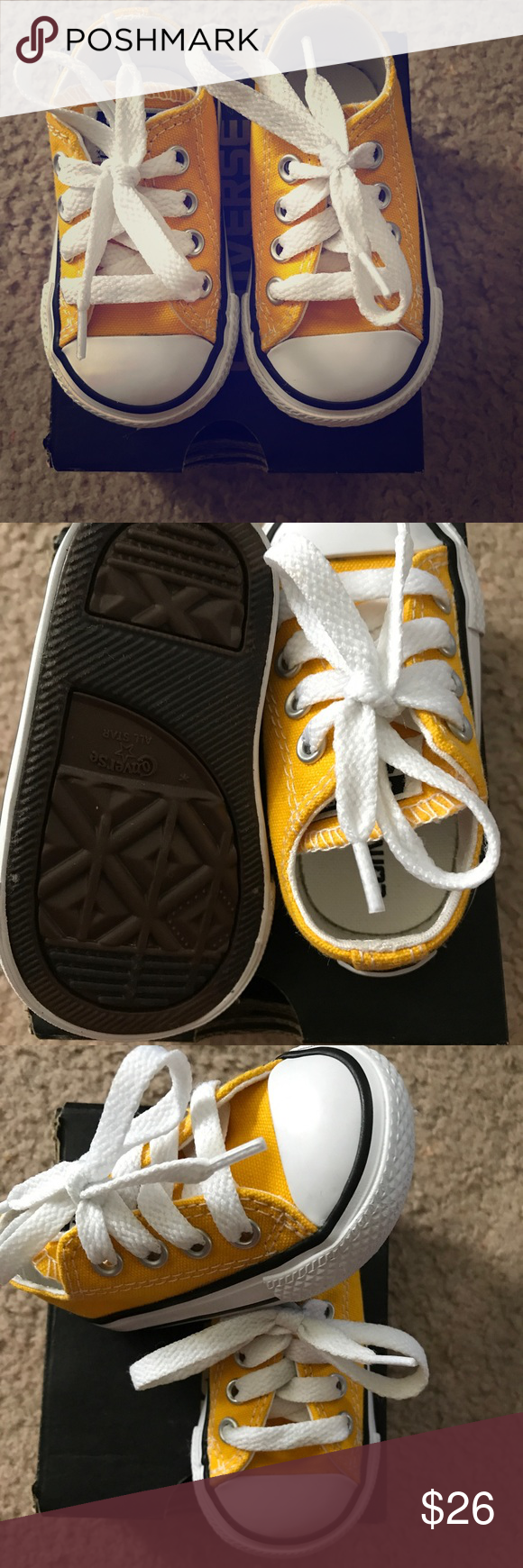 538b0bd42f2213 Girls yellow converse size 3 Yellow girls size 3 converse shoes in very good  shape. Shoes Baby   Walker