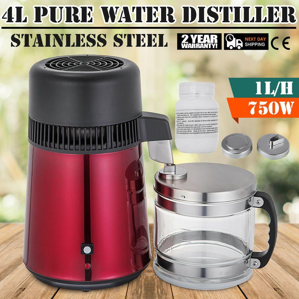 750w 4l Water Distiller Water Purifier W Water Bottle Premium Countertop Home Water Purifier Distilled Water Bottle