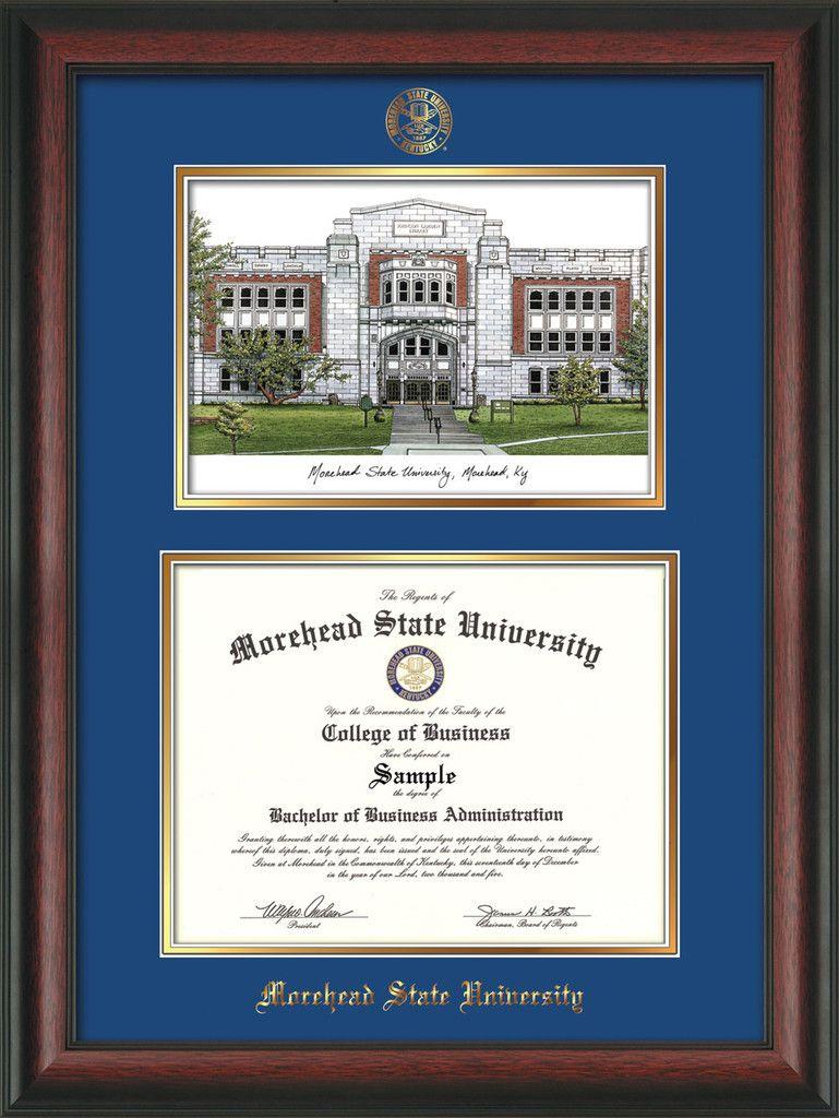 Morehead State University Diploma Frame - Rosewood - w/Embossed MSU ...