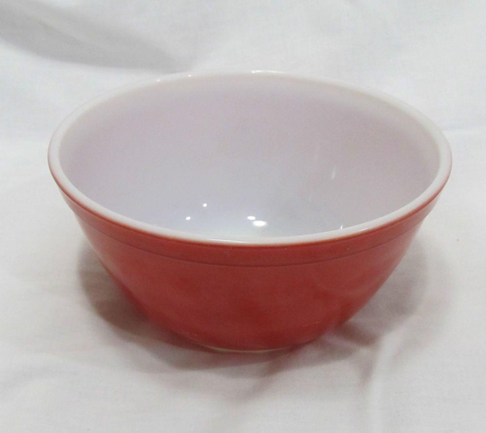 Vintage Red Primary Color Pyrex Mixing Bowl # 402 1.5 Quart #Pyrex ...