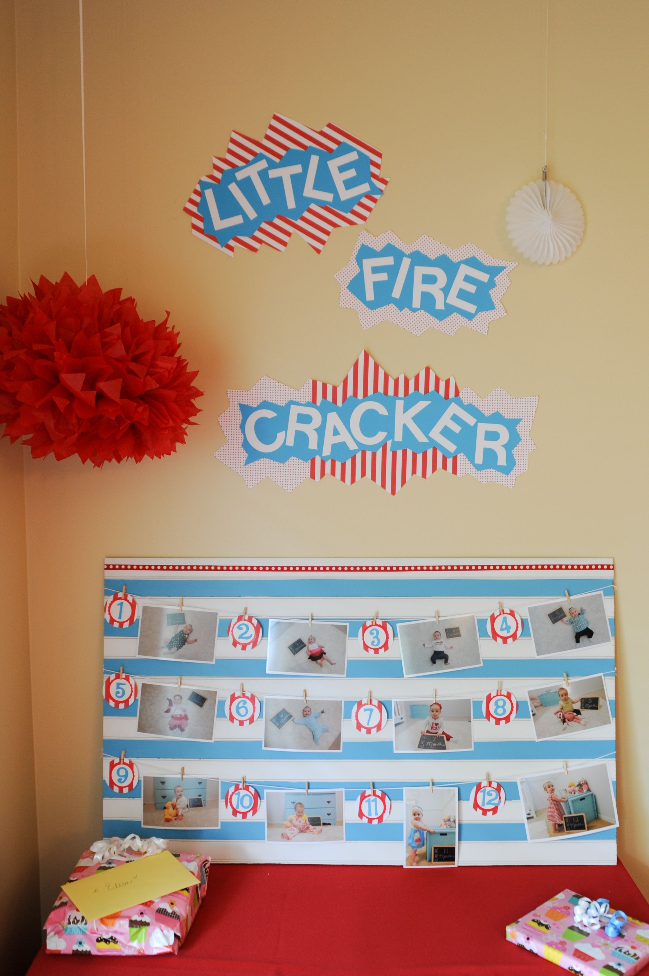 little firecracker baby s first birthday month by month pictures